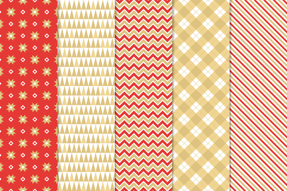 27 Christmas Seamless Patterns example image 2