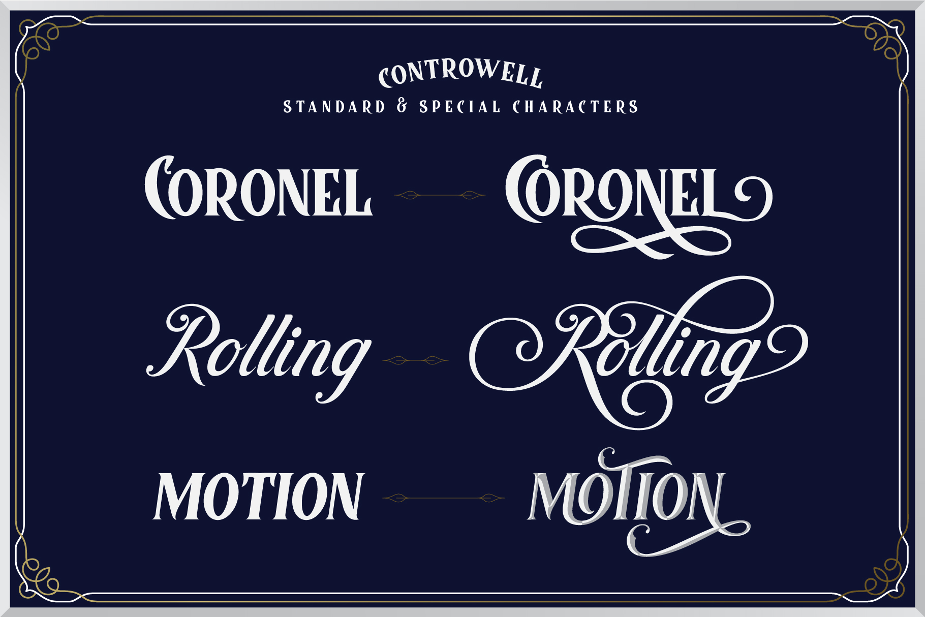 Controwell Victorian Typeface example image 9
