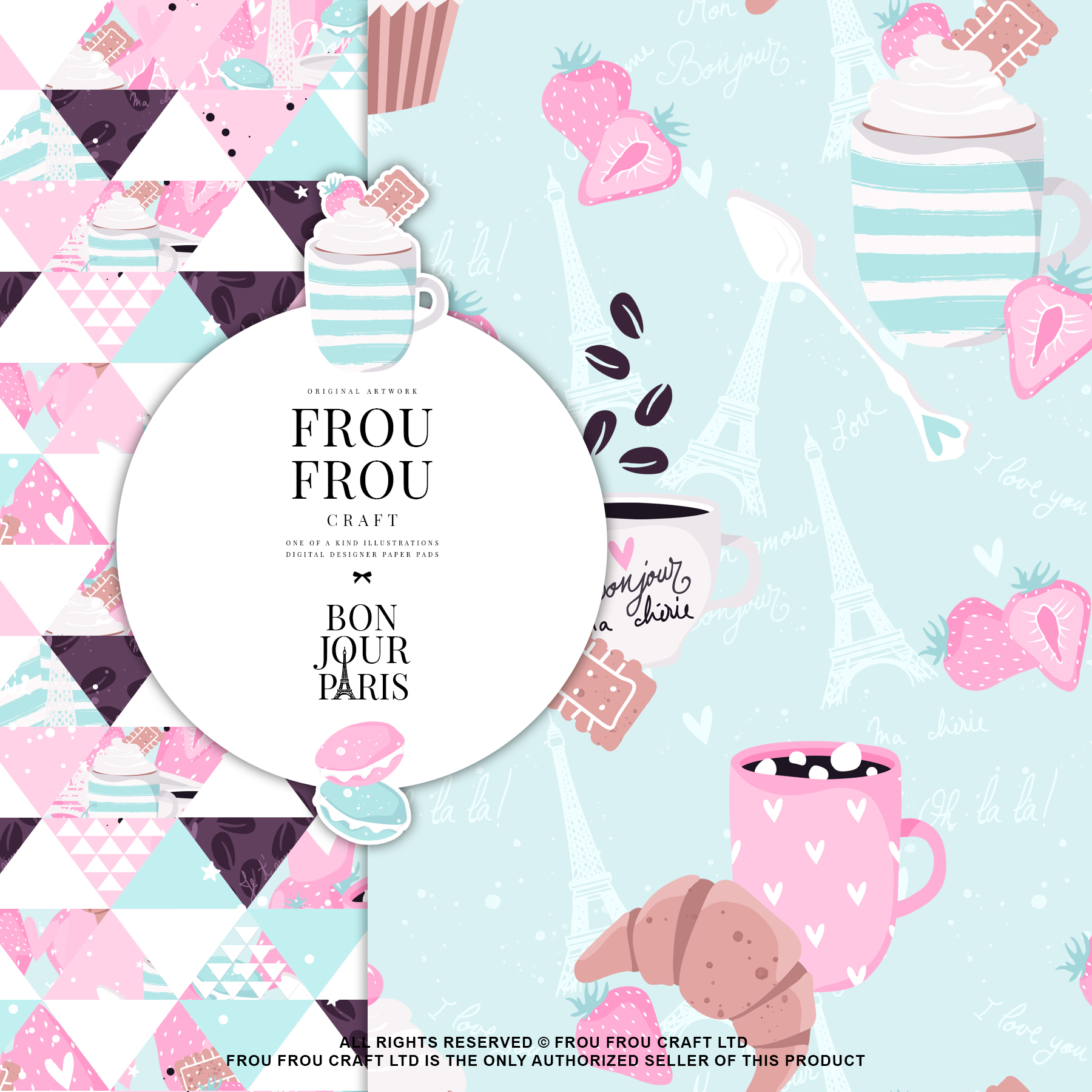 Paris Bakery Sweets Macaroons Cake Paper Pack example image 8