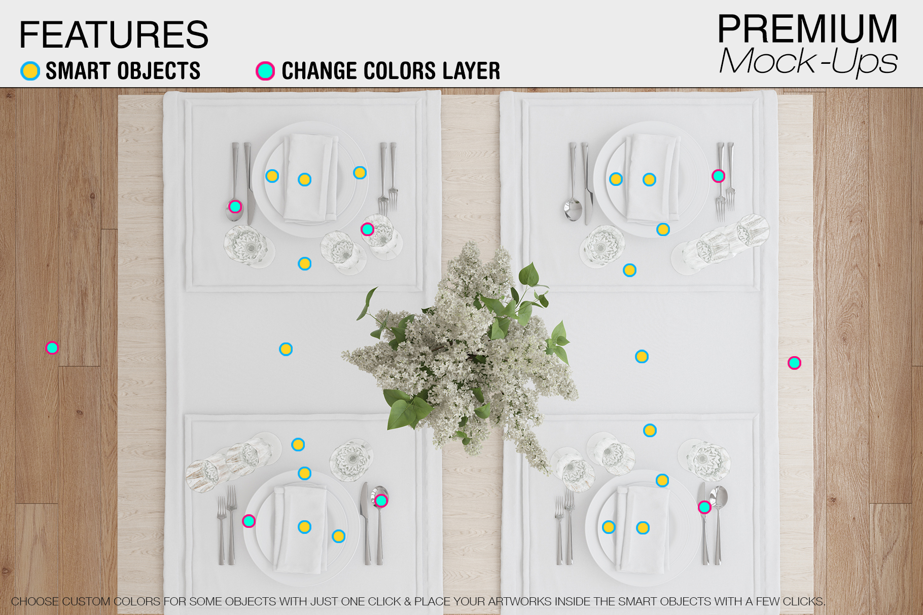 Tablecloth, Runner, Napkins & Plates example image 7