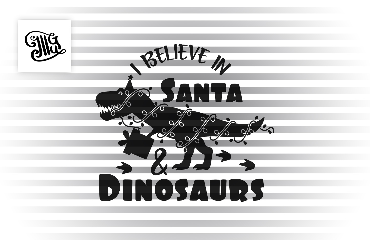 I believe in Santa and Dinosaurs example image 2