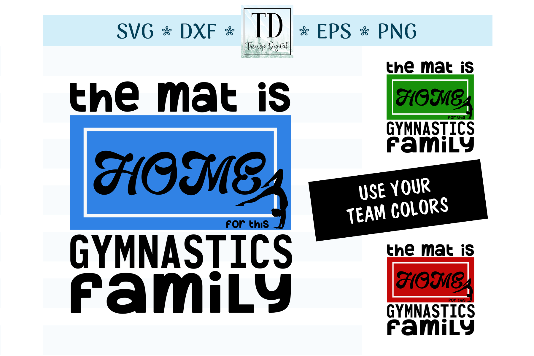 The Mat is Home for this Gymnastics Family, A Sports SVG, example image 1