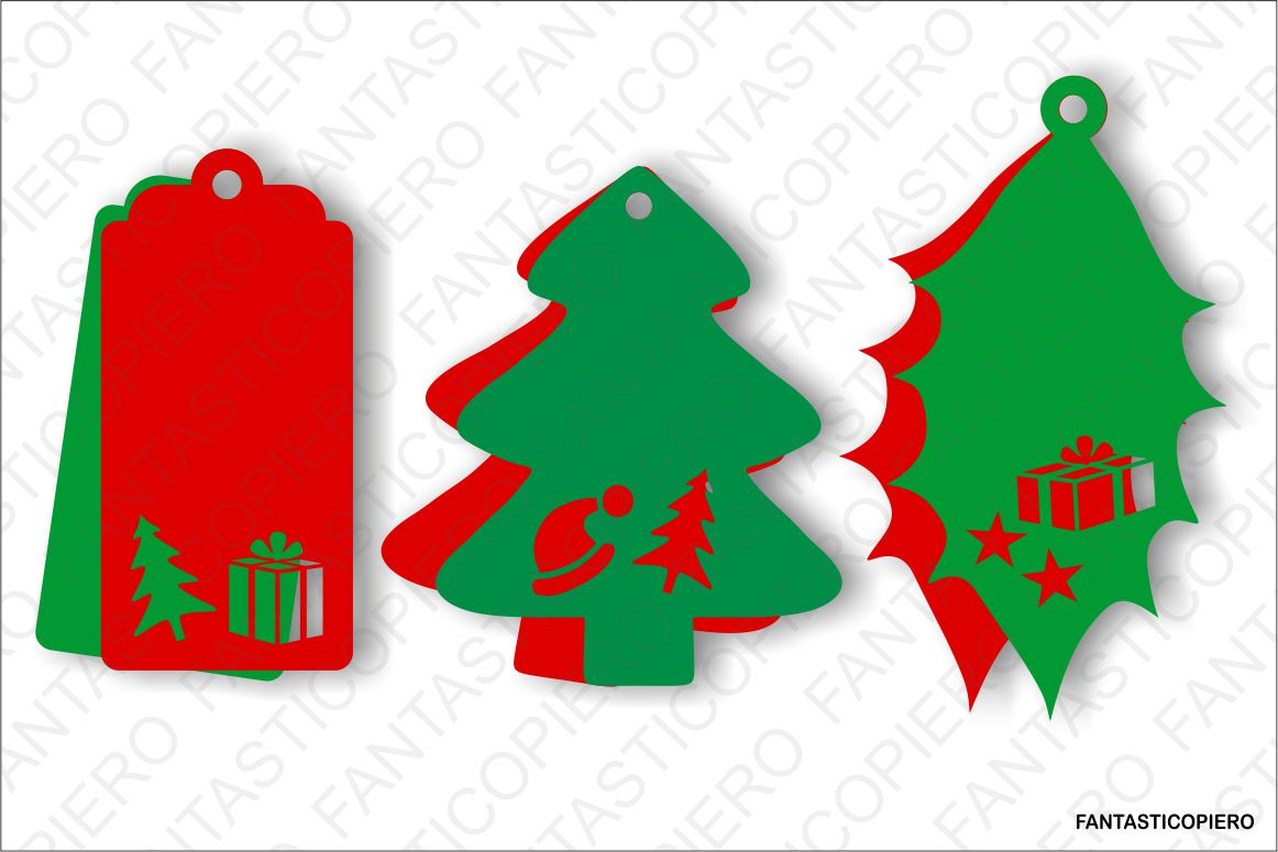 Christmas Label SVG files for Silhouette Cameo and Cricut. example image 1