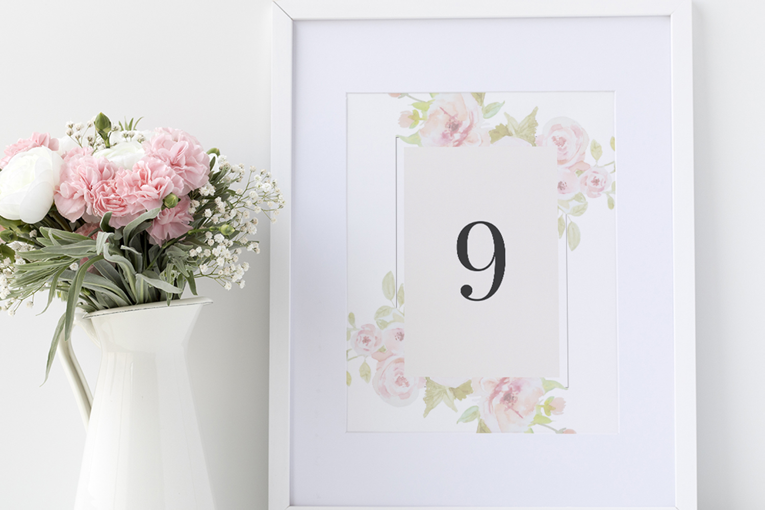 Set of watercolour Wedding Suite example image 6
