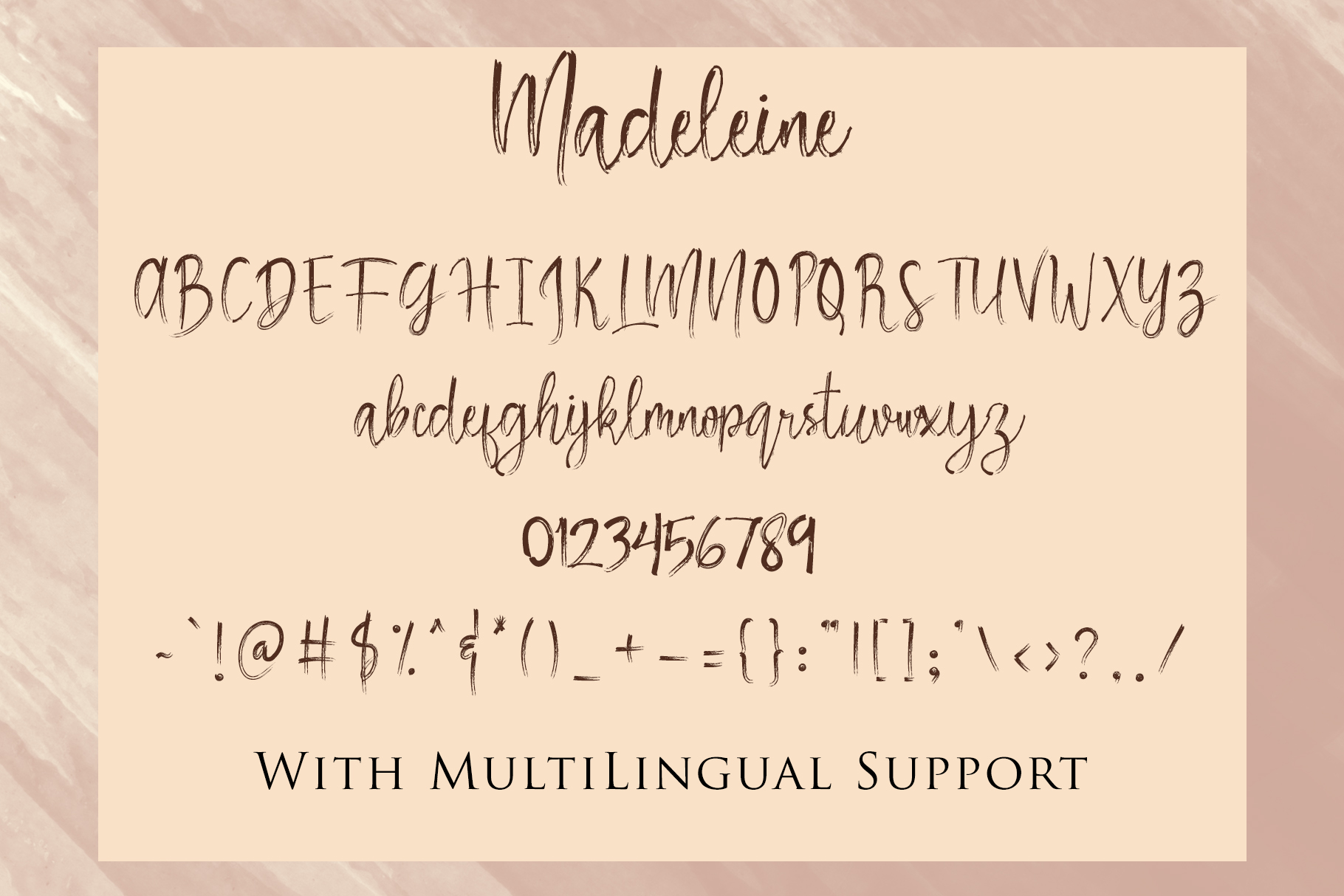 Madeleine - Brush Script Font example image 7