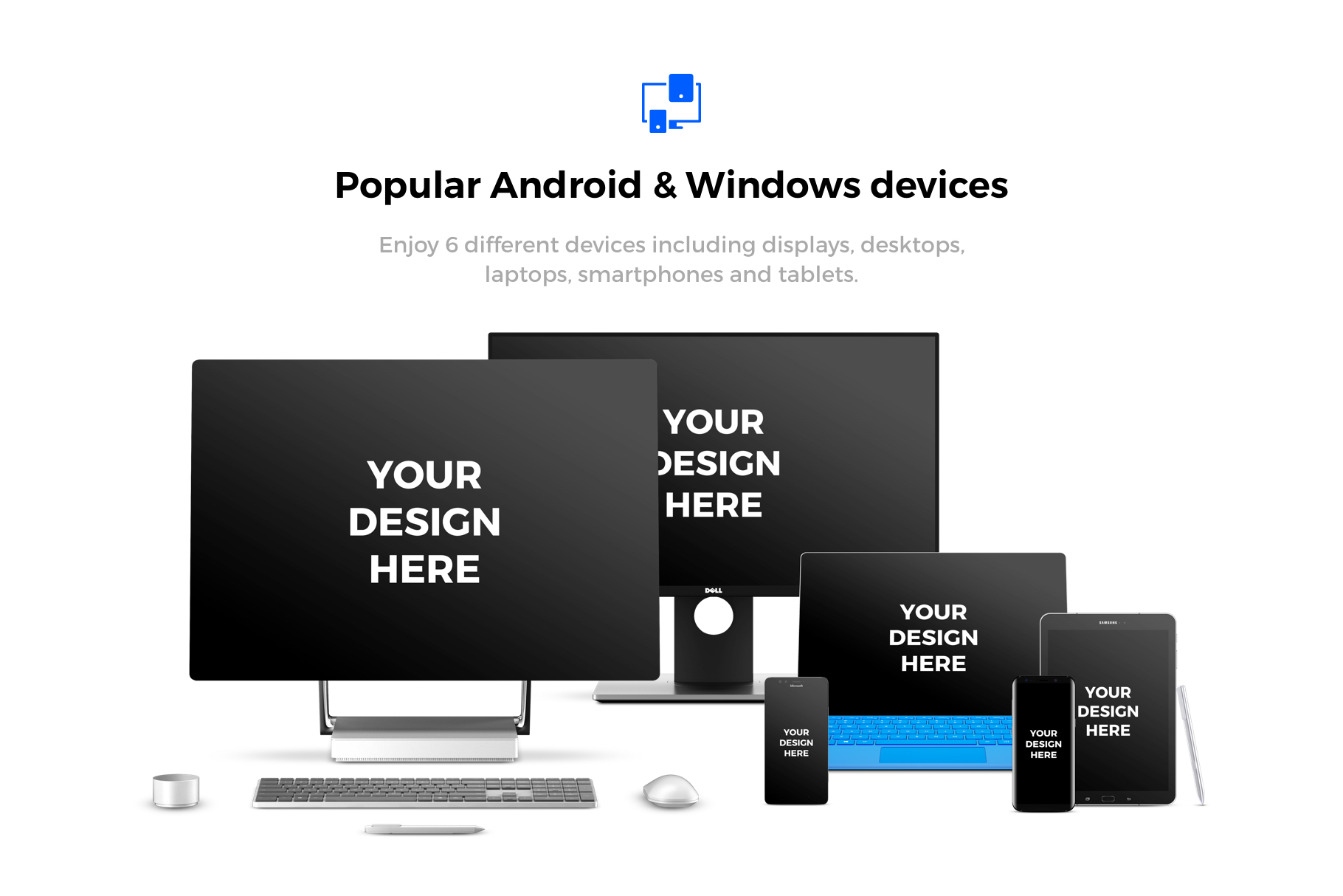 91x Android & Windows Mockups example image 2