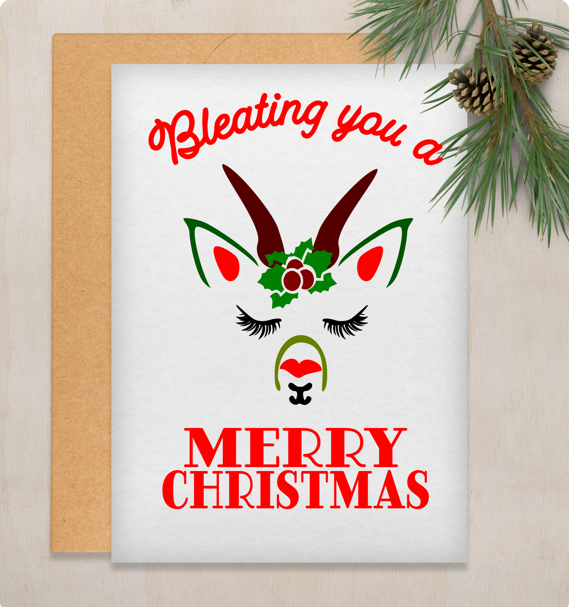 SVG Merry Christmas Goat Farmhouse Style Sign Decor Svg cut Stencil files for cricut or shilhouette, example image 4