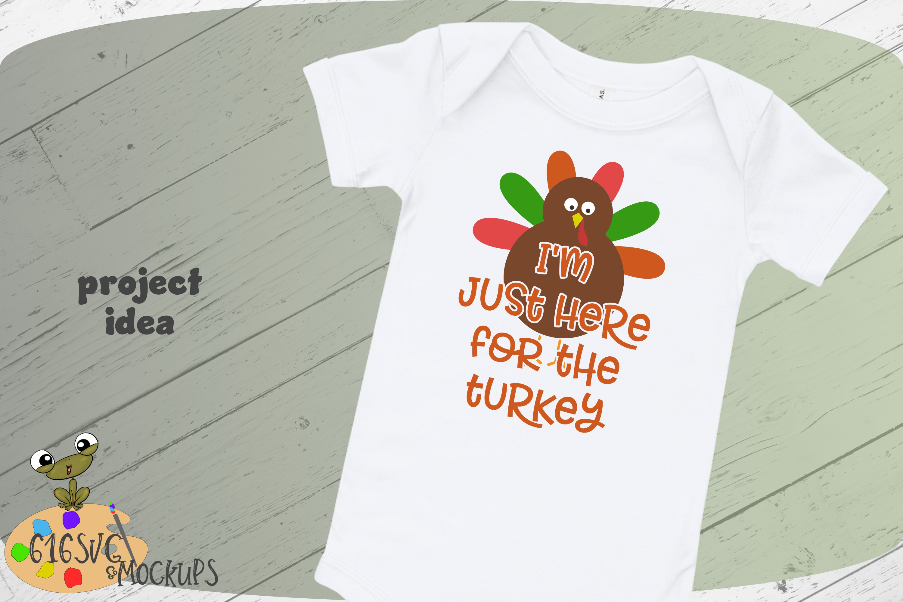 I'm Just Here For The Turkey SVG example image 1