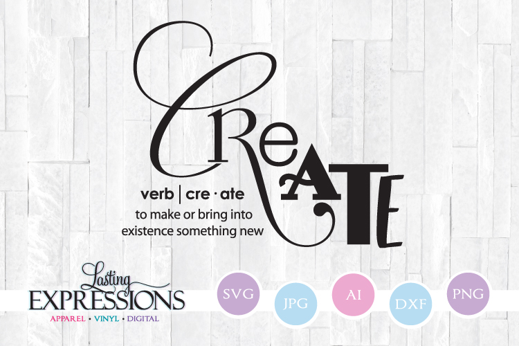 Create Definition Svg Craft Quote