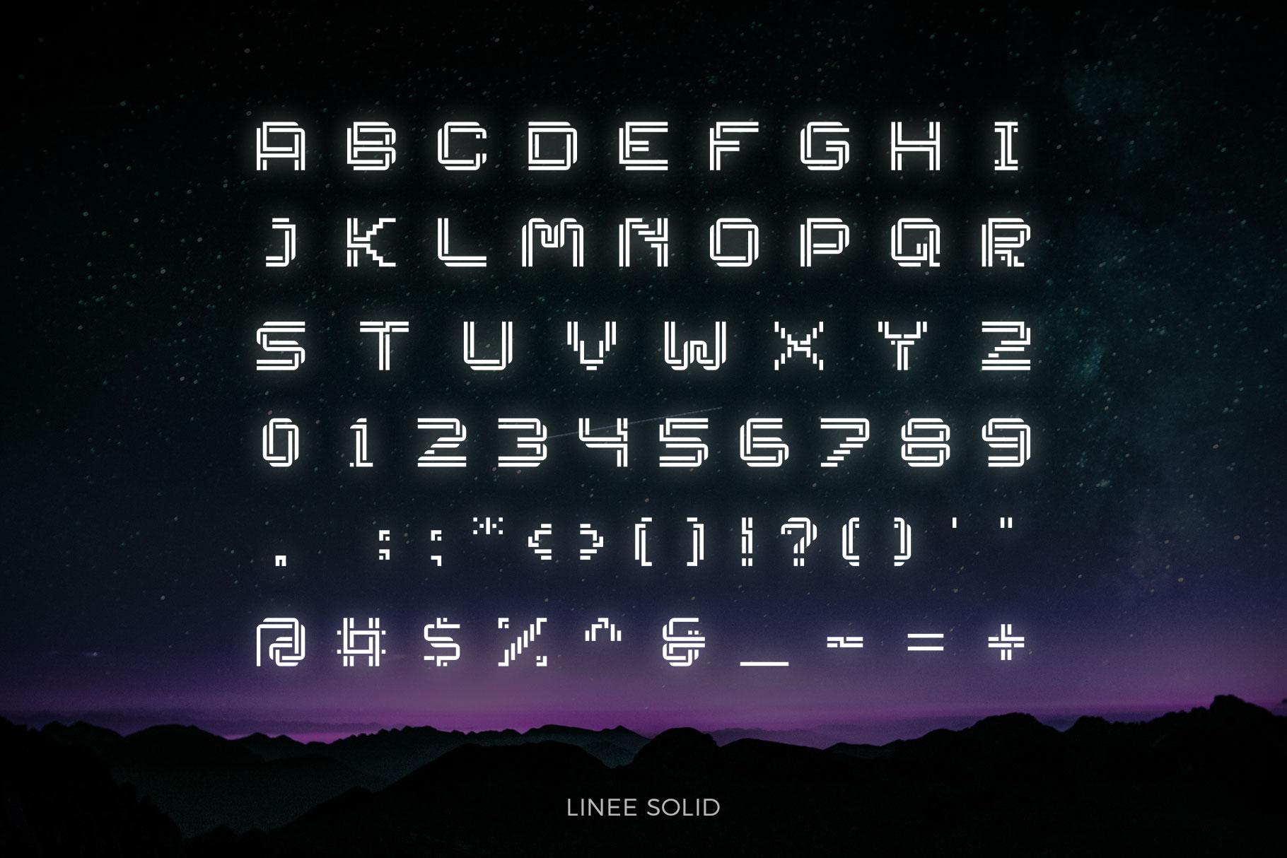 LINEE Display - Scifi & Modern Look example image 4