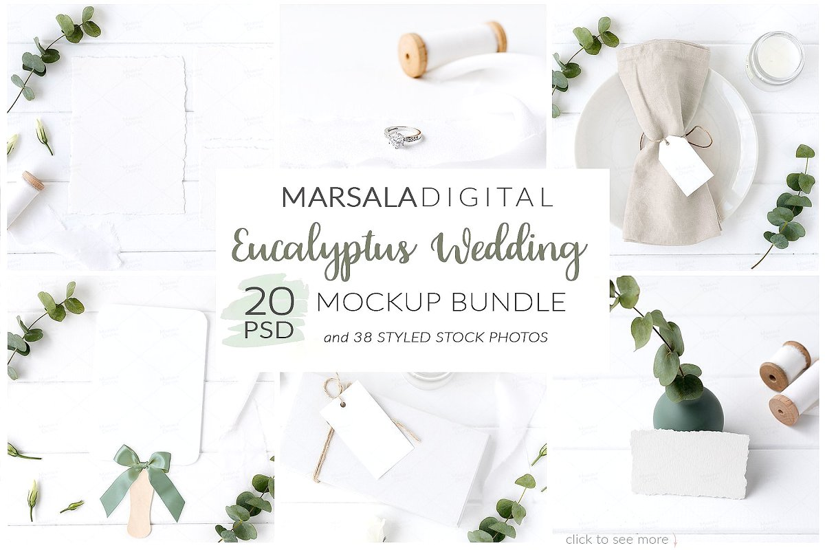 Wedding Mockup Bundle 400 Massive Wedding Mockups Bundle example image 5