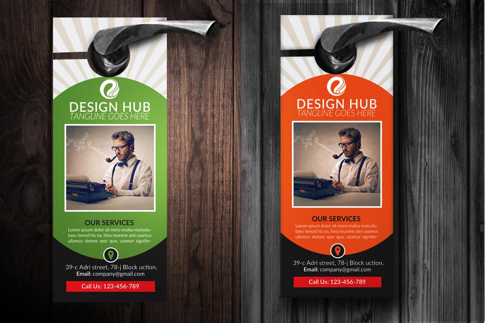 Business Editor Door Hangers example image 2