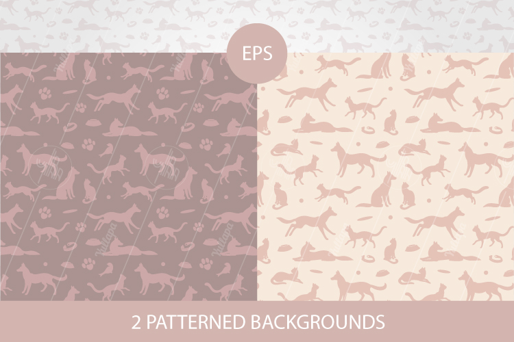 Animal silhouettes clipart, Pet patterns, SVG, EPS, PNG example image 3