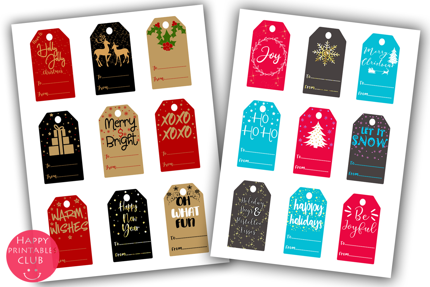 Christmas Gift Tags- Printable Christmas Gift Tags- Gift Tag example image 2