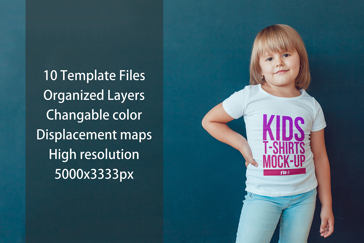 Kids T-Shirt Mock-Up Vol 5 example image 10