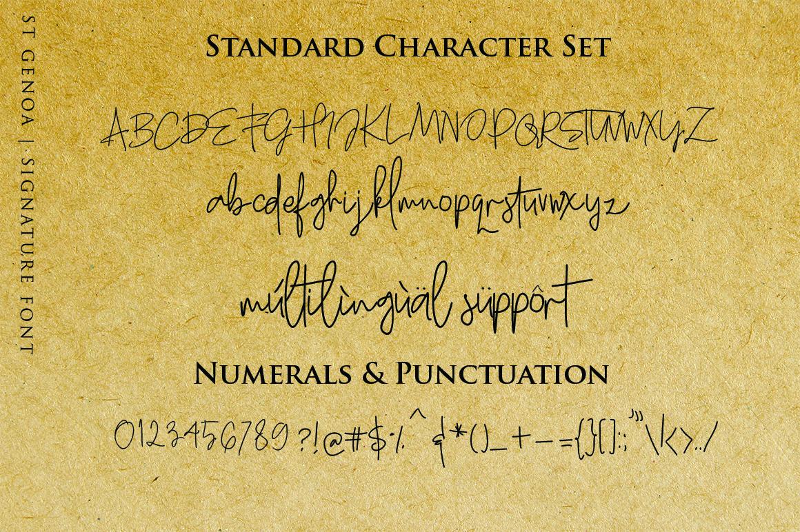 St. Genoa - Luxury Signature Font example image 10