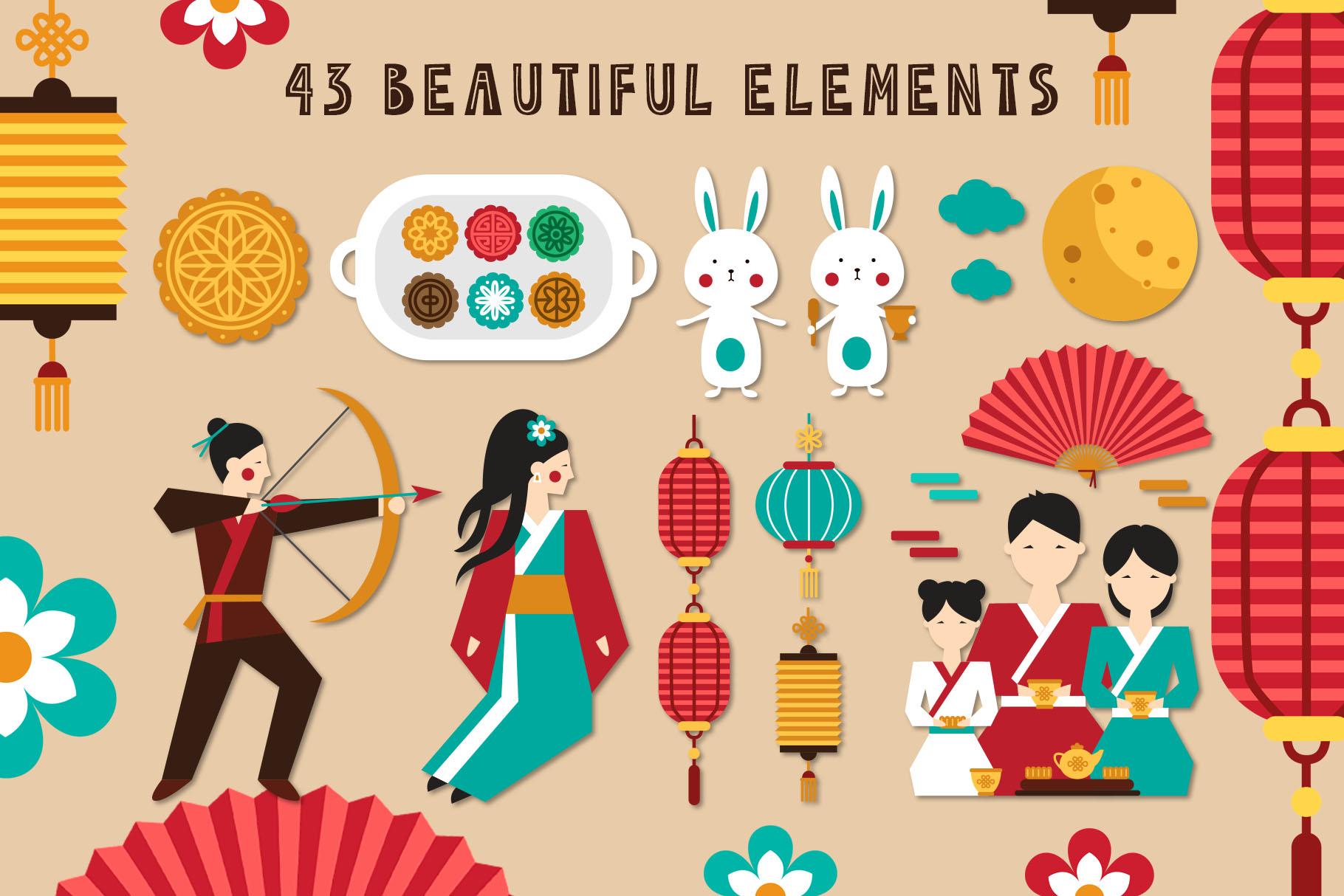 Mid Autumn Festival - China folk kit example image 2