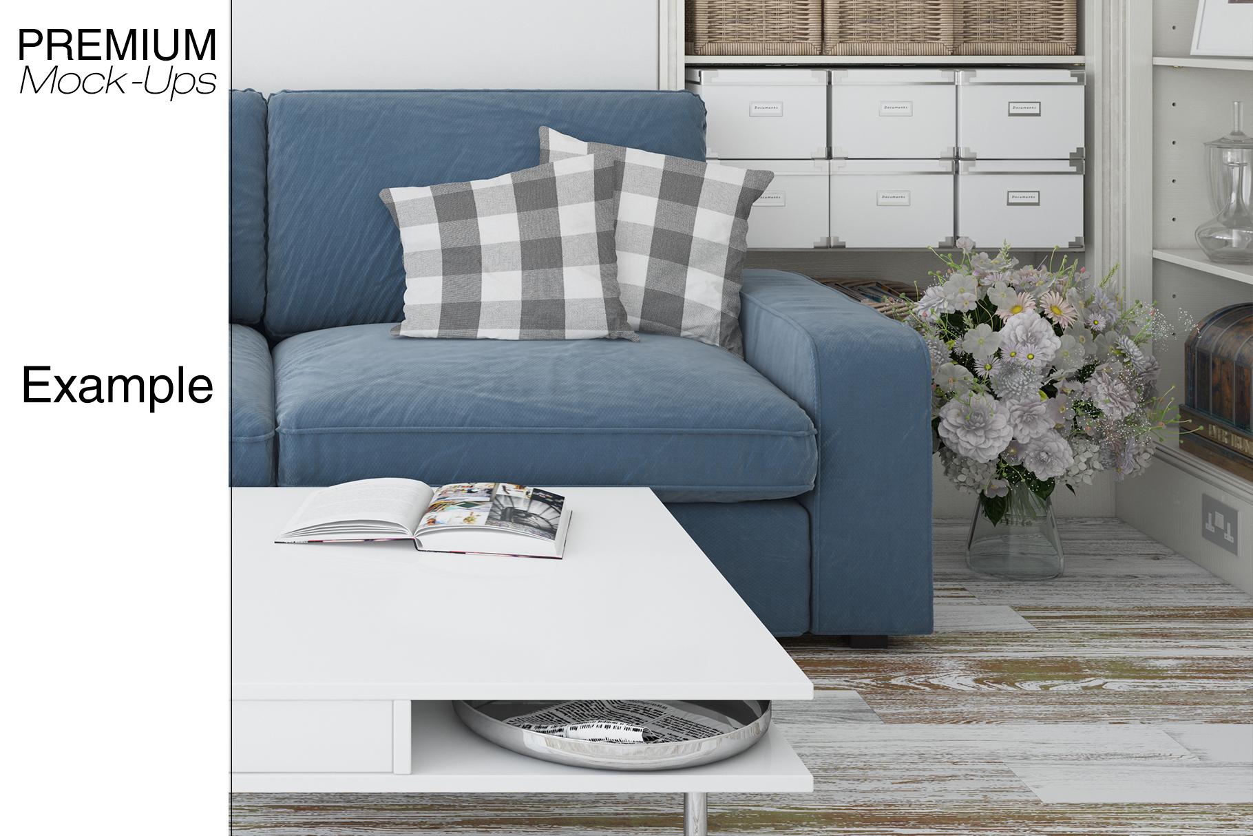 Pillows & Frames Mockup Set example image 16