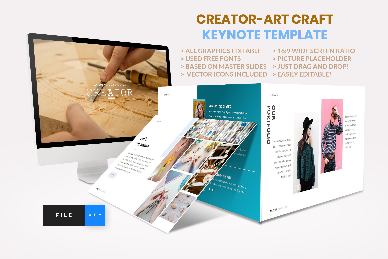 Creator - Art Craft Keynote Template example image 1