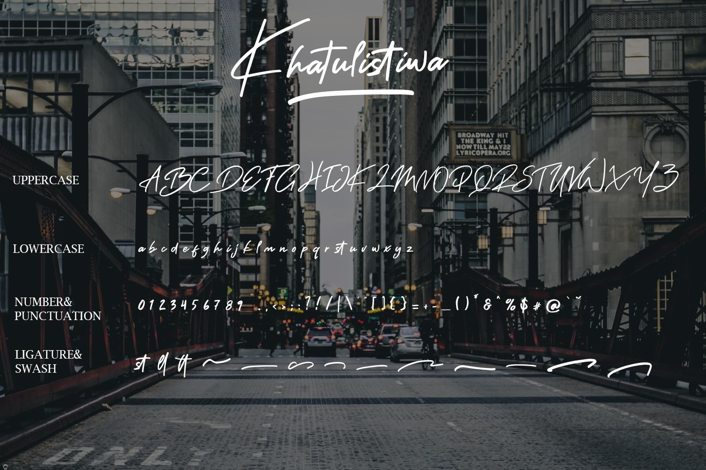 Khatulistiwa Brush Script Font example image 8