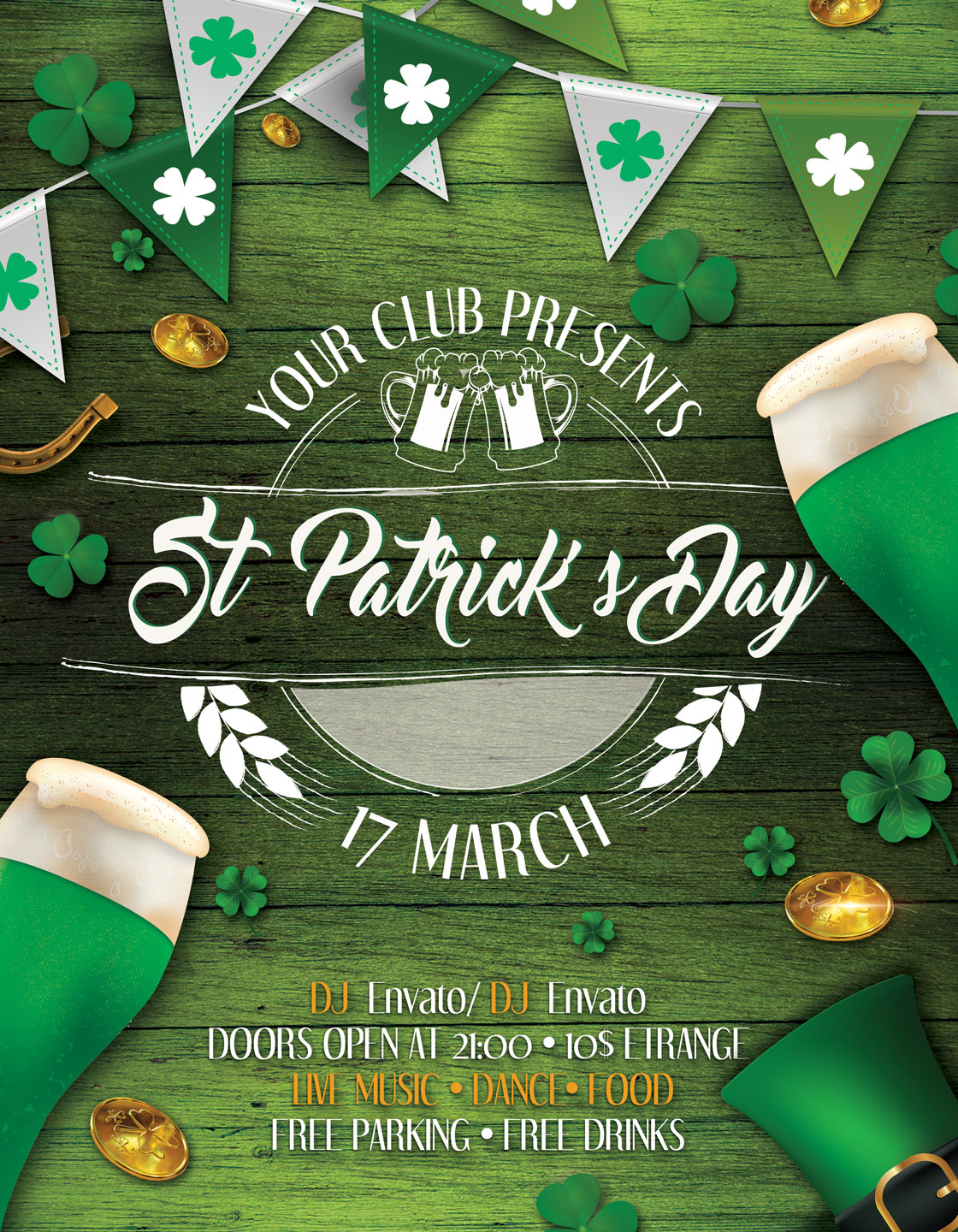St. Patrick's Day Flyer And Poster example image 3