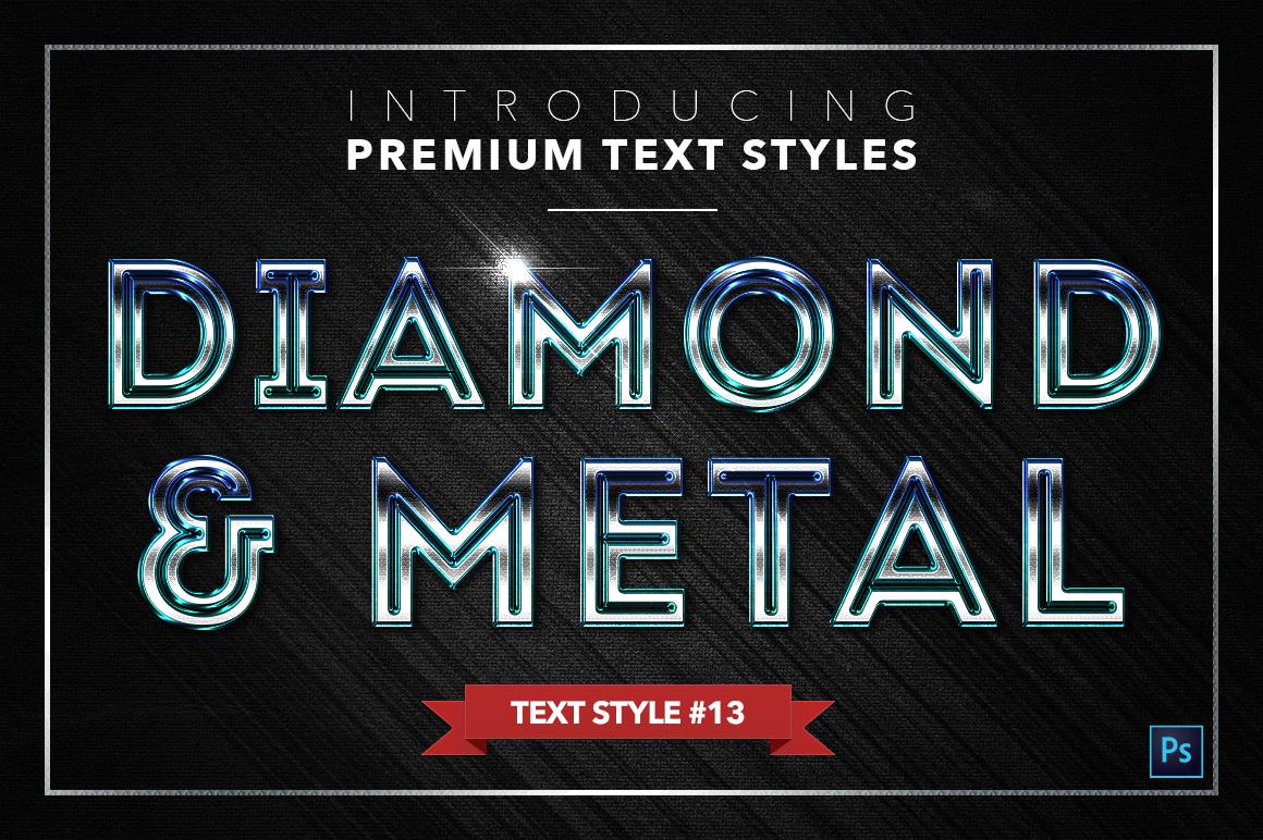 Diamond & Metal #2 - 16 Text Styles example image 14