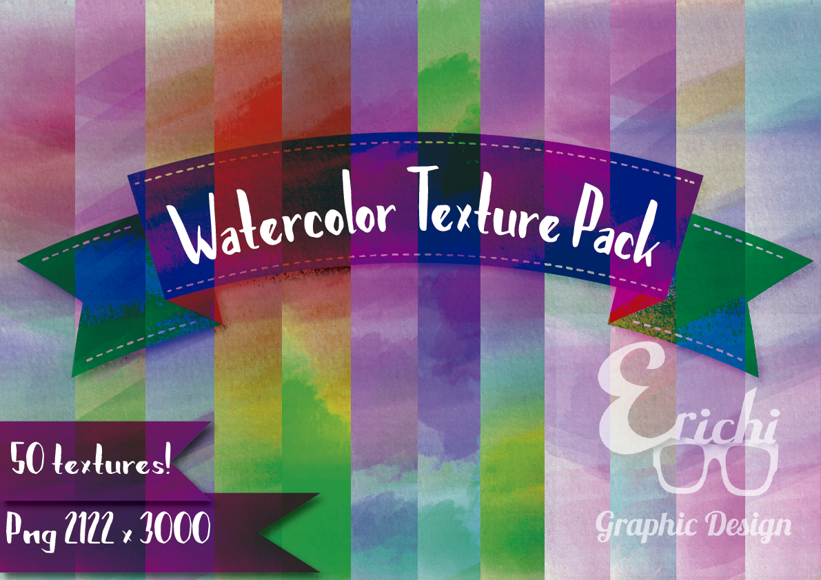 Watercolor Texture Pack example image 1
