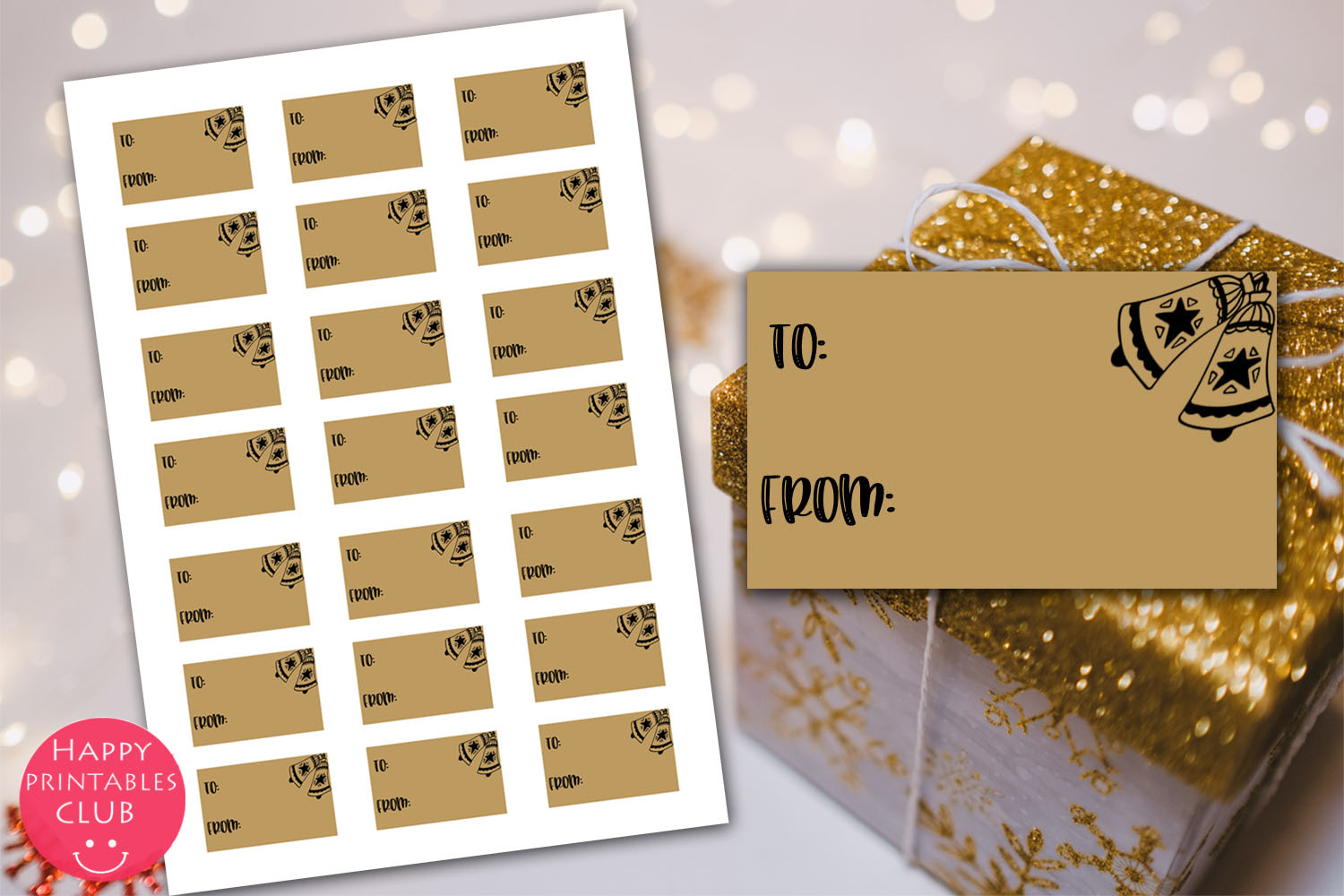 Christmas Cards-Gift Tags-Labels/Holiday Cards Tags Labels example image 9