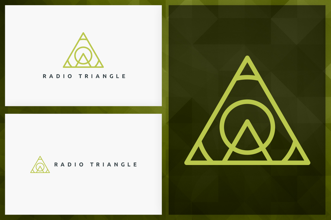 20 Triangle Logos - Outline edition