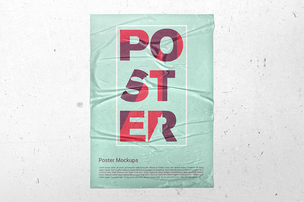 Poster Glued Effect Mockups example image 3