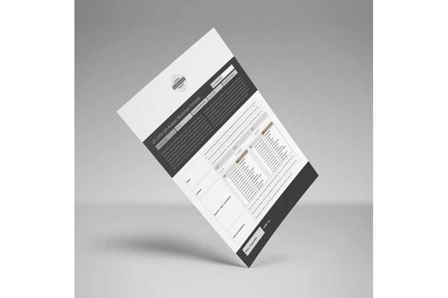 US Letter Job Analysis Worksheet Template example image 5