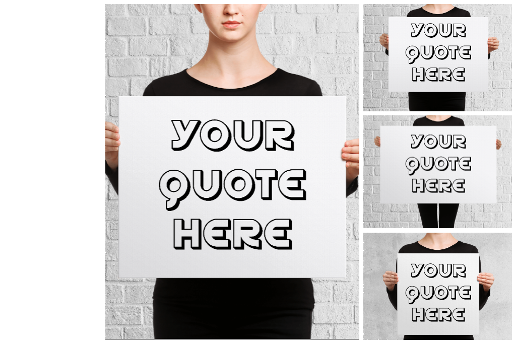 Women Holding Canvas Mockups-6 example image 8