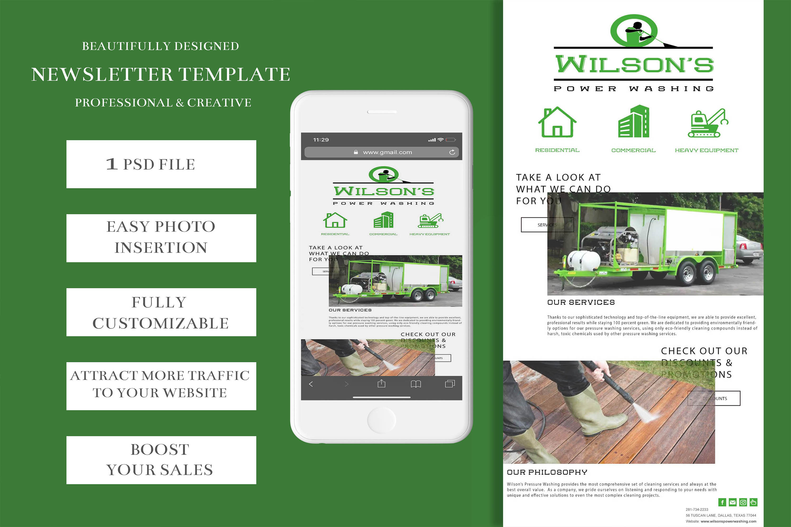 Newsletter Template/ Email Template/ Newsletter Download example image 2
