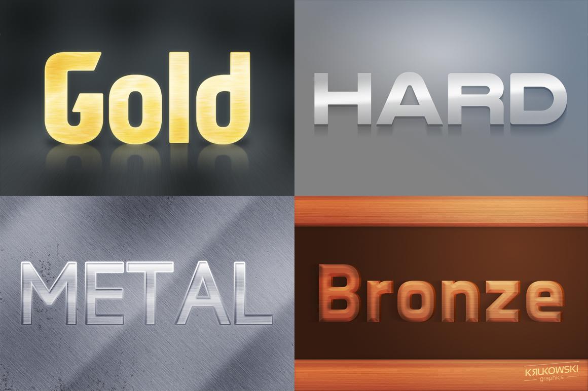 Metallic Text Effects Mockup example image 2
