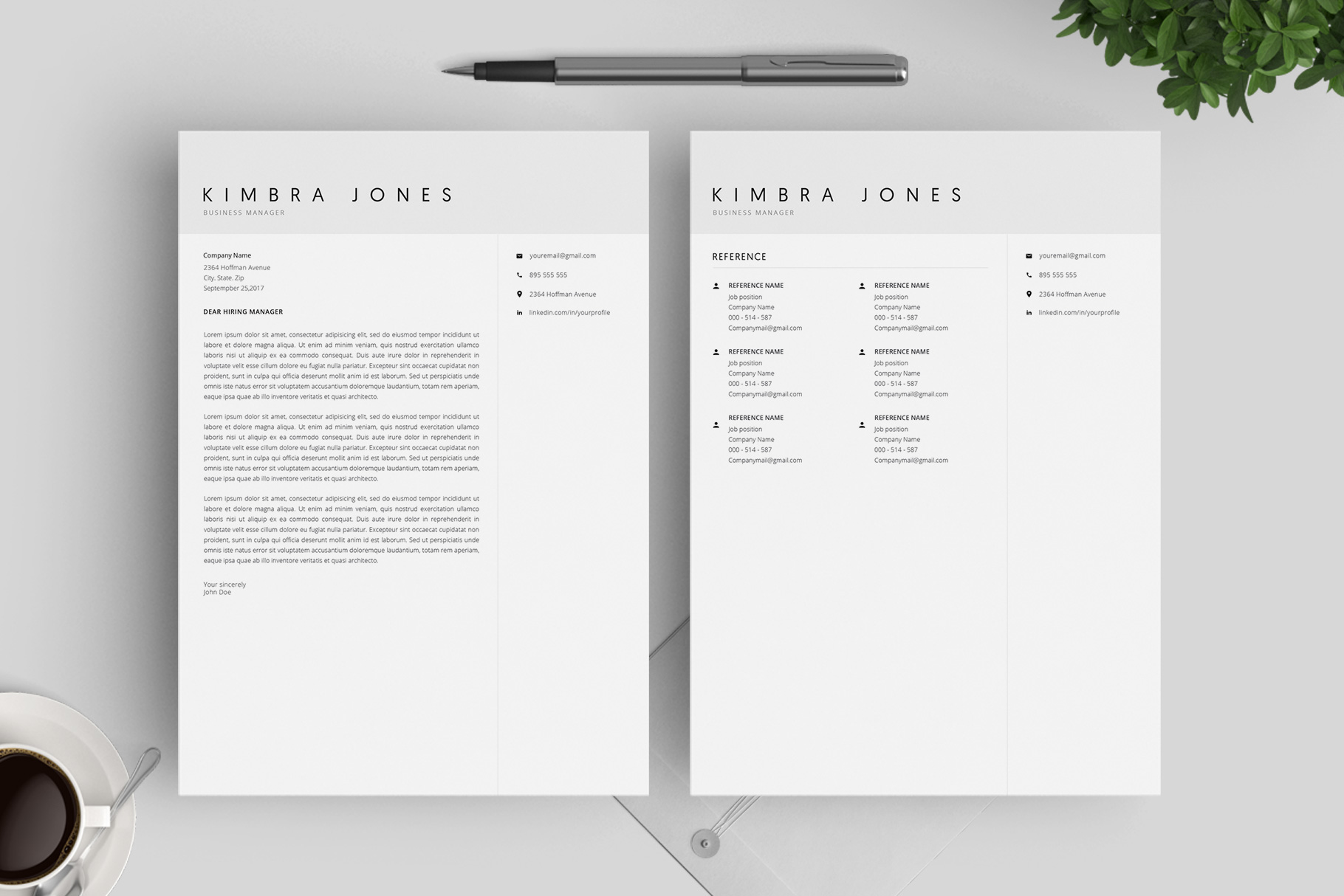 Resume Template and Cover Letter / 4 Pages example image 6