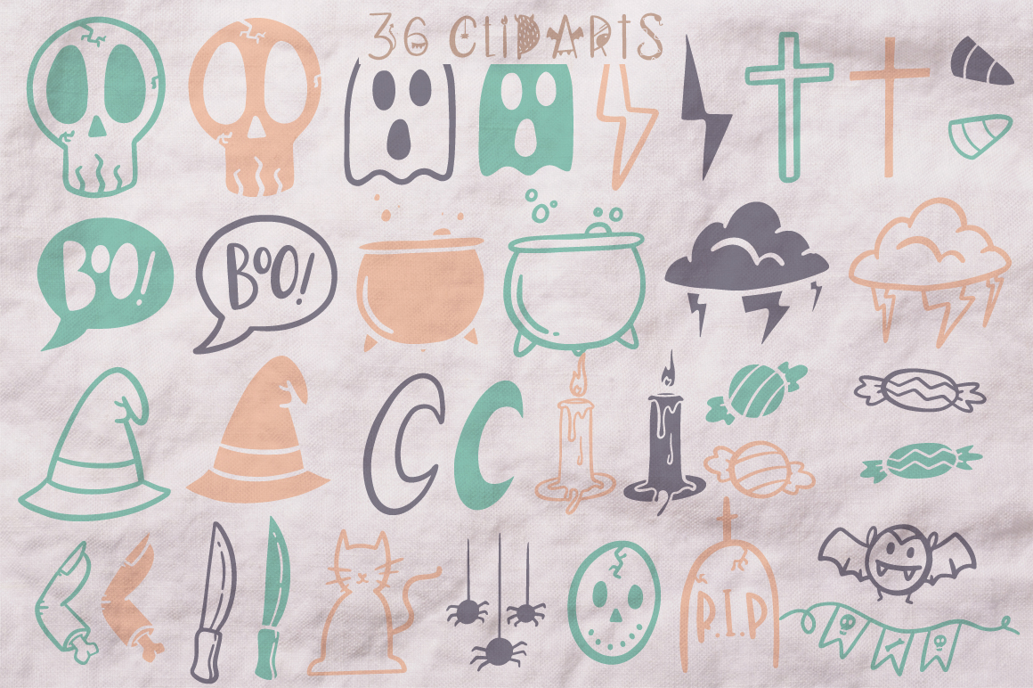 Dark font patterns, brushes and more! example image 9