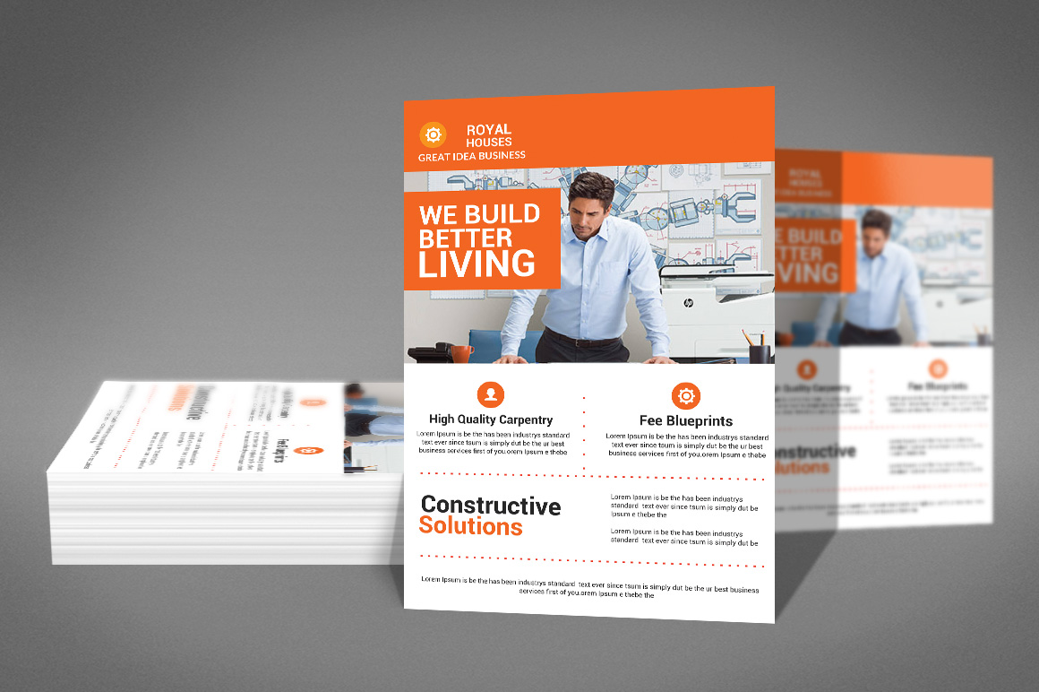 Construction Business Flyer example image 3