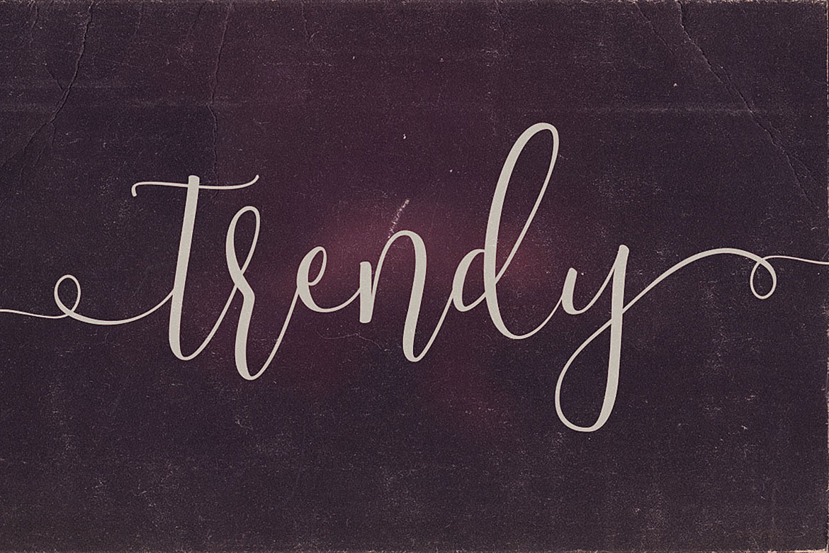 Trendy Script Font Duo example image 6