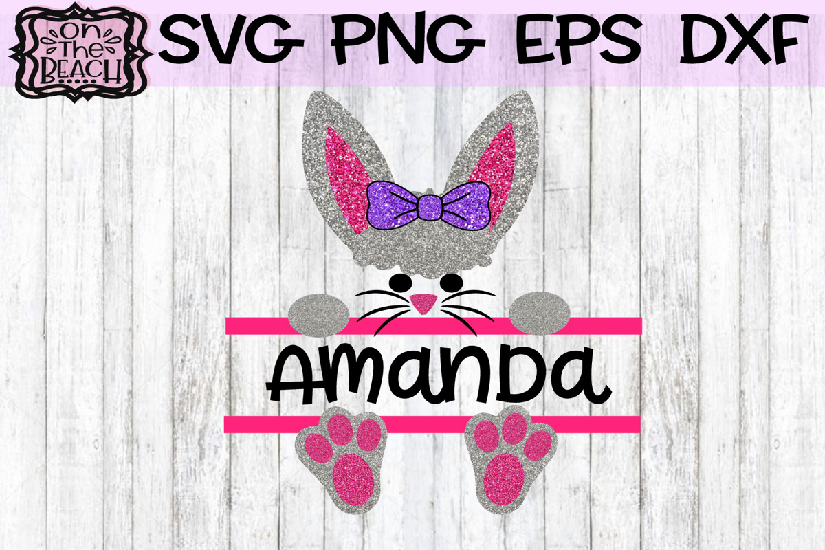 Easter Svg, Easter Bunny Svg, Easter Split Monogram Svg, example image 1
