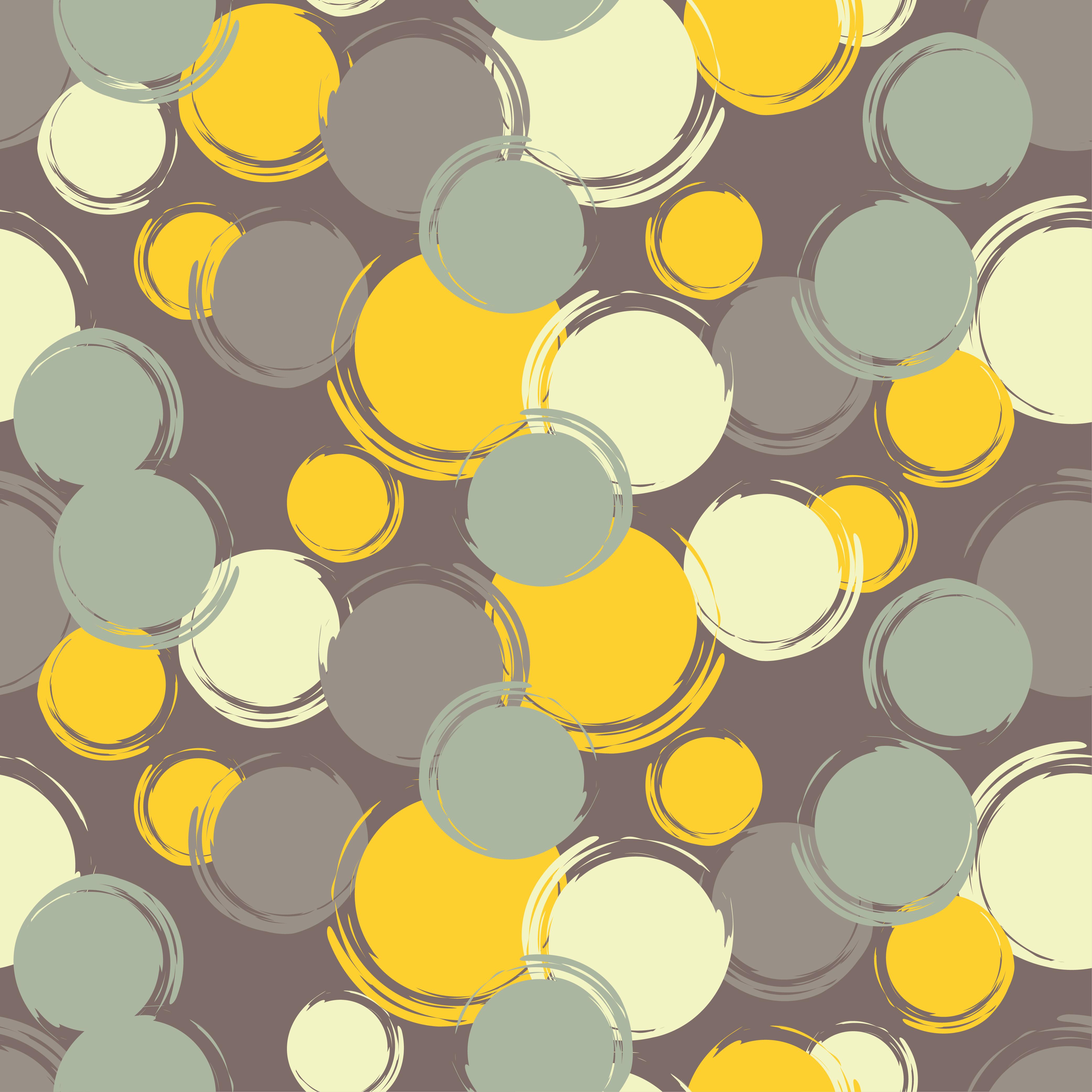 Set of 6 Polka dot seamless pattern. Brushwork.  example image 6