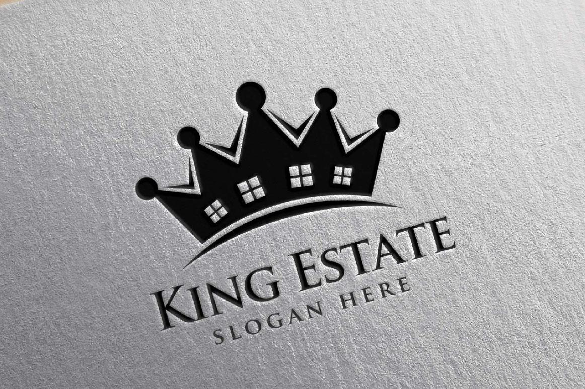 Real Estate Logo, King Estate Logo example image 7