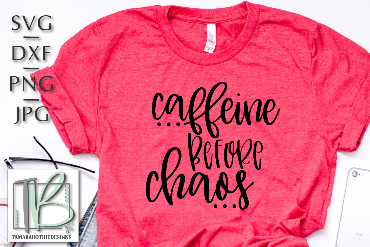 Caffeine Before Chaos SVG example image 1