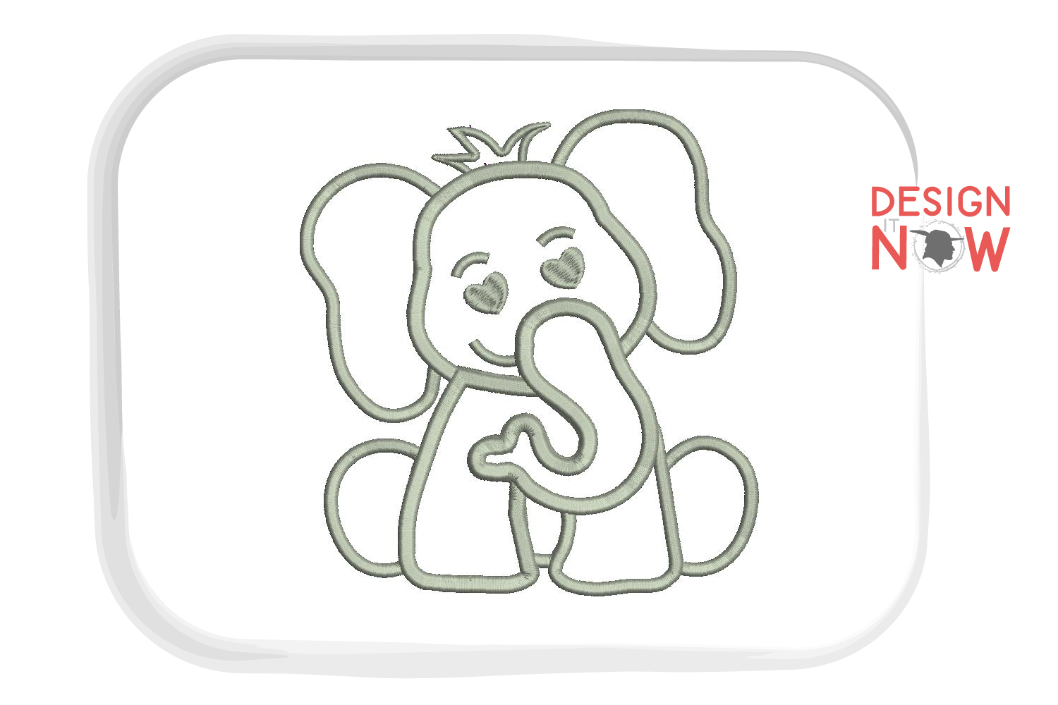 Elephant Applique Embroidery Design, Elephant Embroidery example image 3