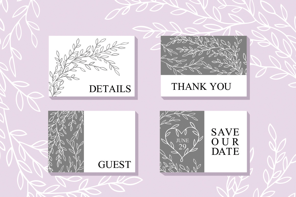 Wedding Vector Invitation Suite example image 3