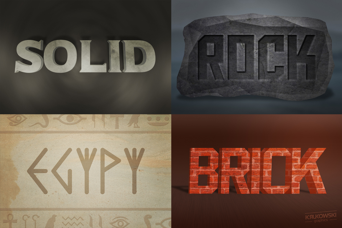 Stone Text Effects Mockup example image 2