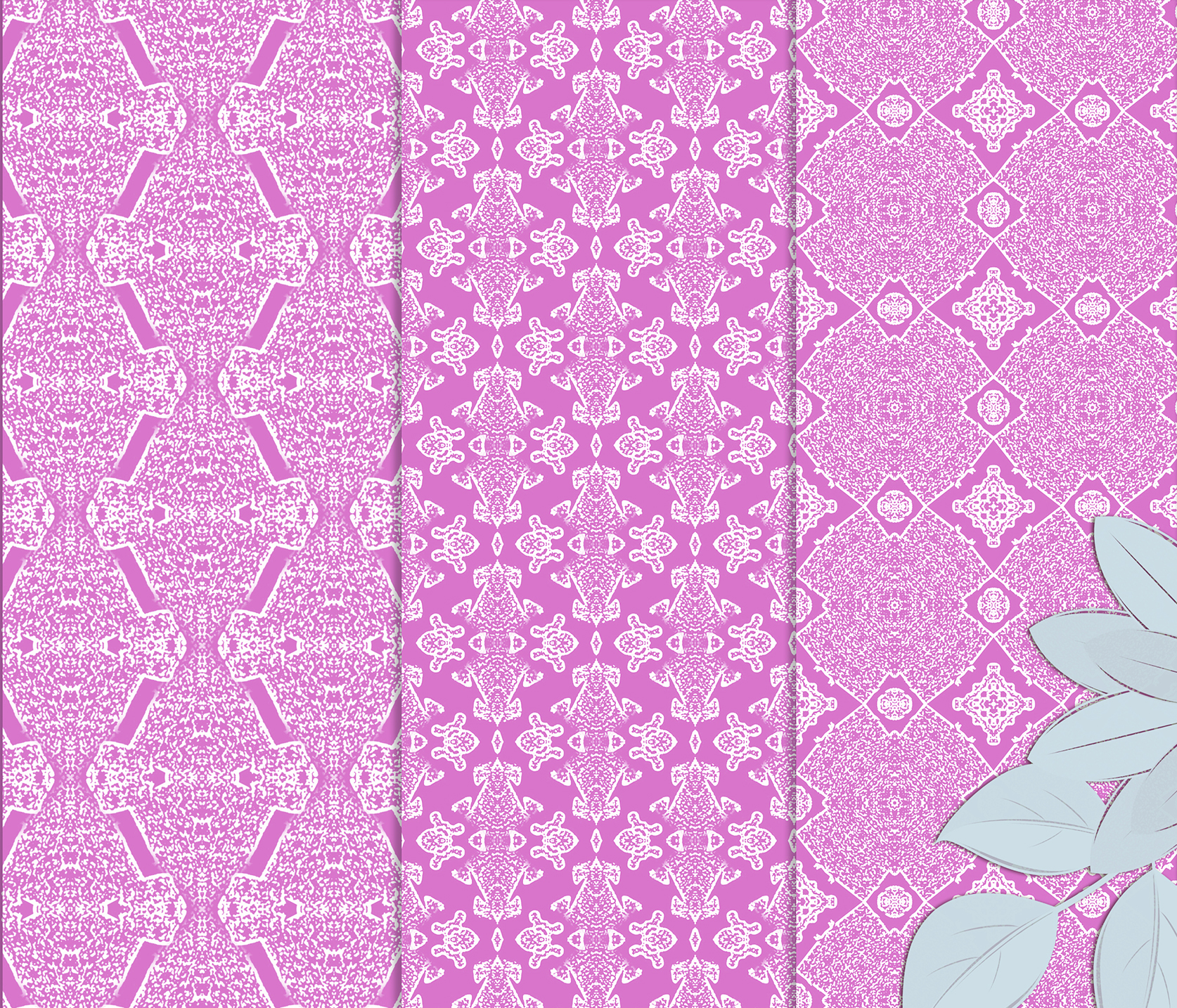 Pink, gentle, abstract and geometrical Scrapbook Paper example image 5