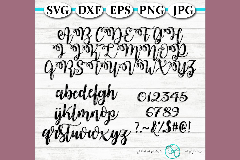 Script SVG Font Letter and Number Set example image 1