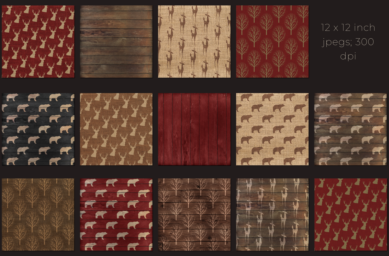 Christmas lumberjack digital paper example image 2