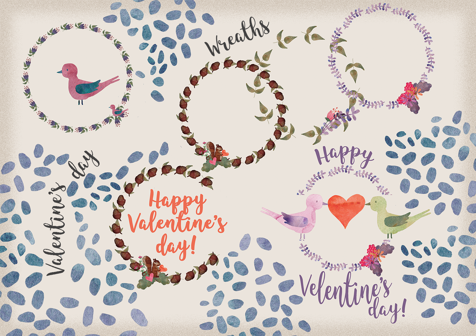 Cute Watercolor Forest Elements example image 3