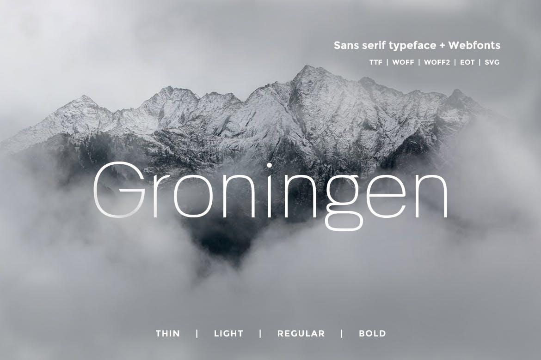 Groningen - Modern San-serif Typeface Webfonts example image 1